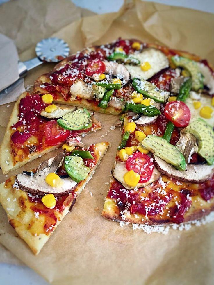 Potato Chickpea Crust Pizza