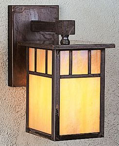 Outdoor sconce for either side of door
