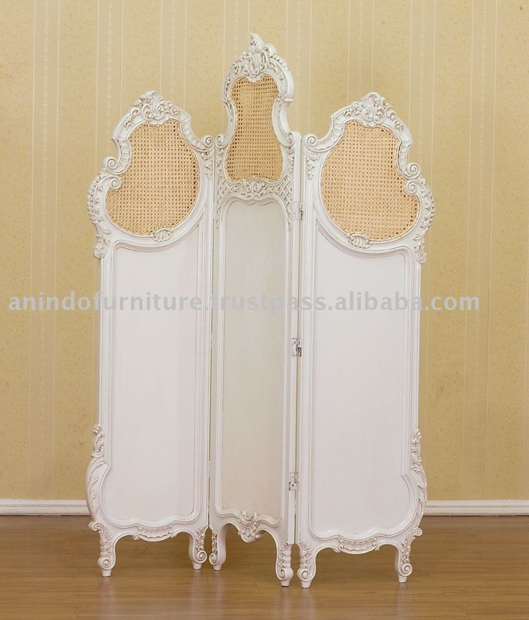 Cream Furniture French Room Divider With Rattan Buy Cream