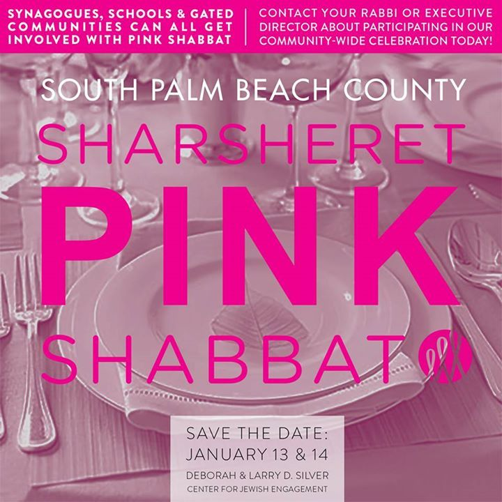 Attention South Palm Beach County! It's not too late to attend this weekend's Boca Pink Shabbat! Please contact your synagogue for more information.