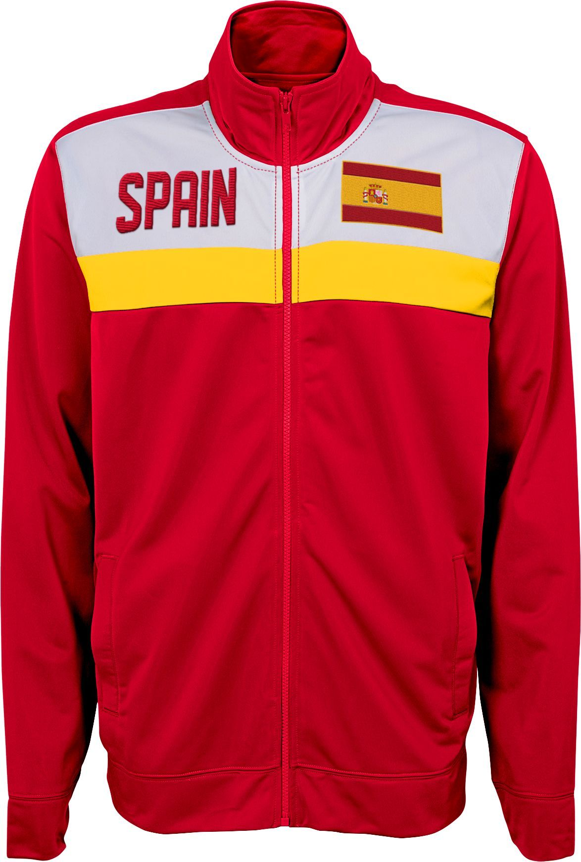 a38f4a83185 Outerstuff Men's 2018 Fifa World Cup Spain Red Track Jacket, Size: XXL,  Multi