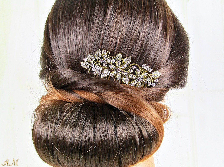 Vintage Style Wedding Bridal Hair Comb Wedding Hair Wedding Hair Accessories Vintage Feathered Hairstyles Wedding Hair Accessories