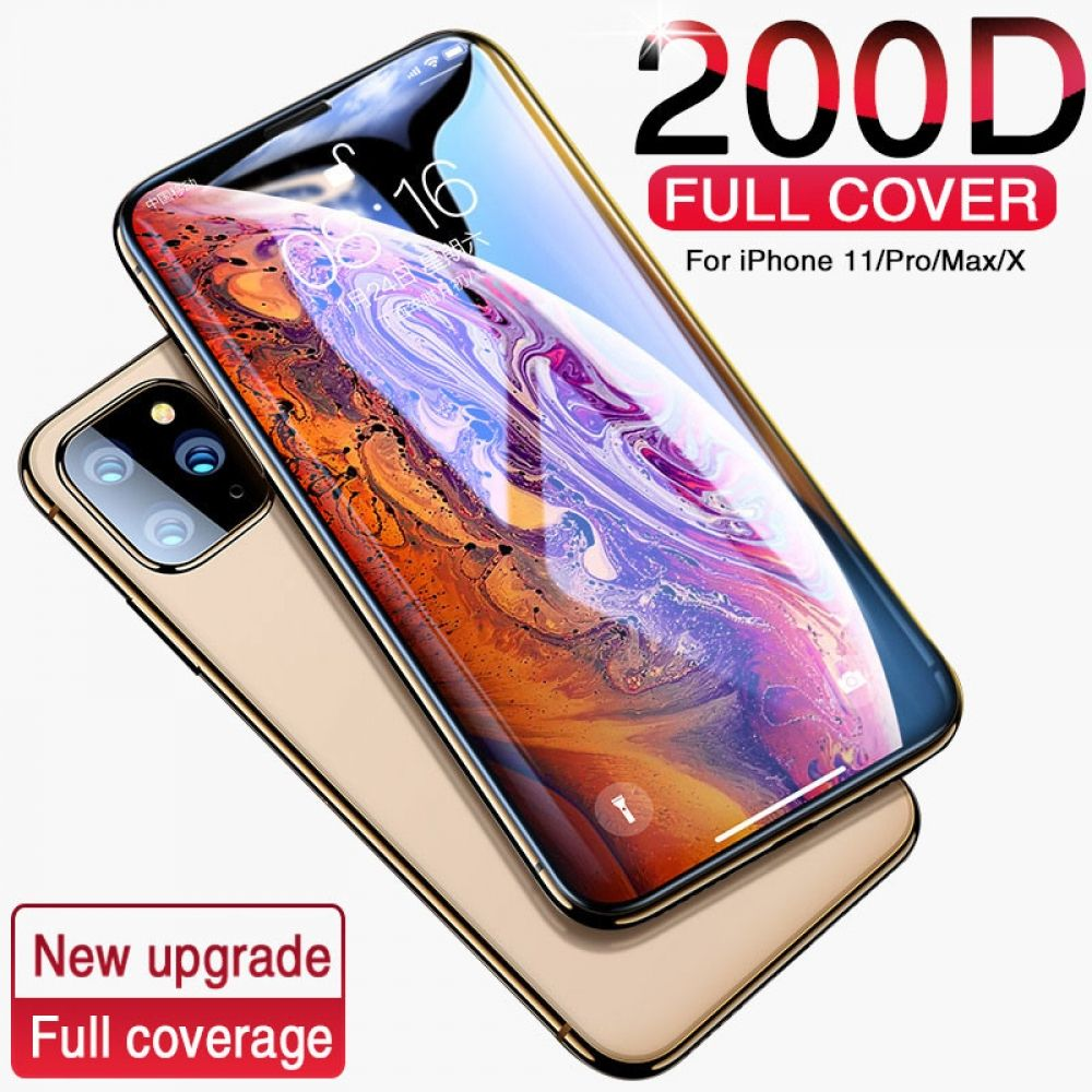 200d full cover tempered glass for iphone 11 pro x xr xs