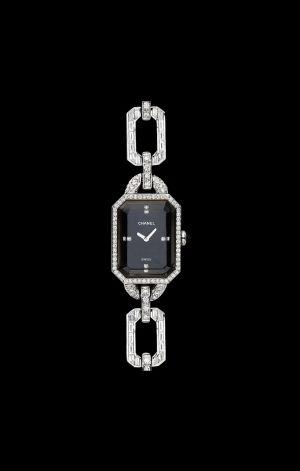 Découvrez notre montre en or blanc 18 carats, onyx et diamants - J3353 - Chanel