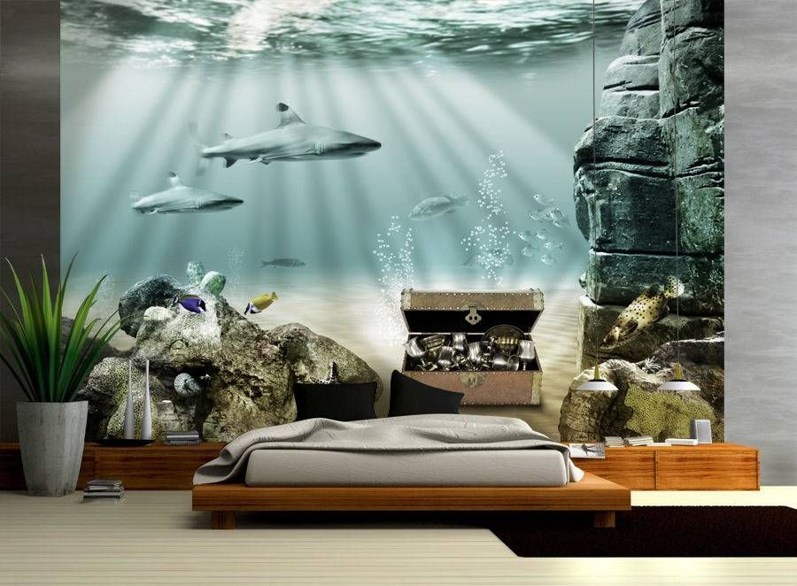 tapete fisch unterwasser schatz gr e 420x270cm kinder fototapete meer neu. Black Bedroom Furniture Sets. Home Design Ideas