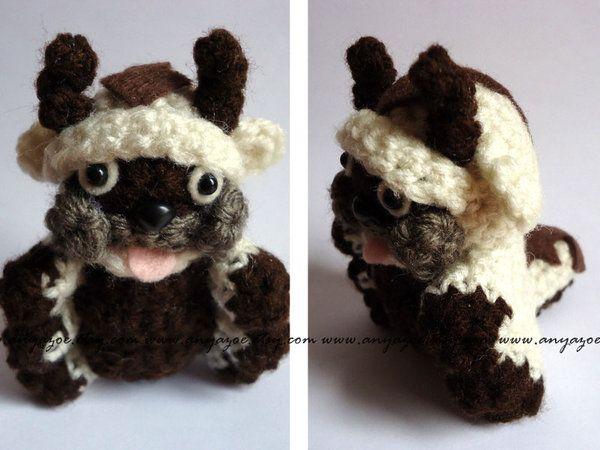 Appa Avatar The Last Airbender Amigurimi Crochet Plush No Pattern