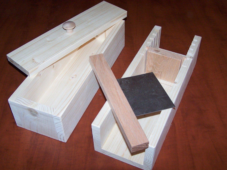 Wooden soap mold to make 23 lb loaf / cutter slicer