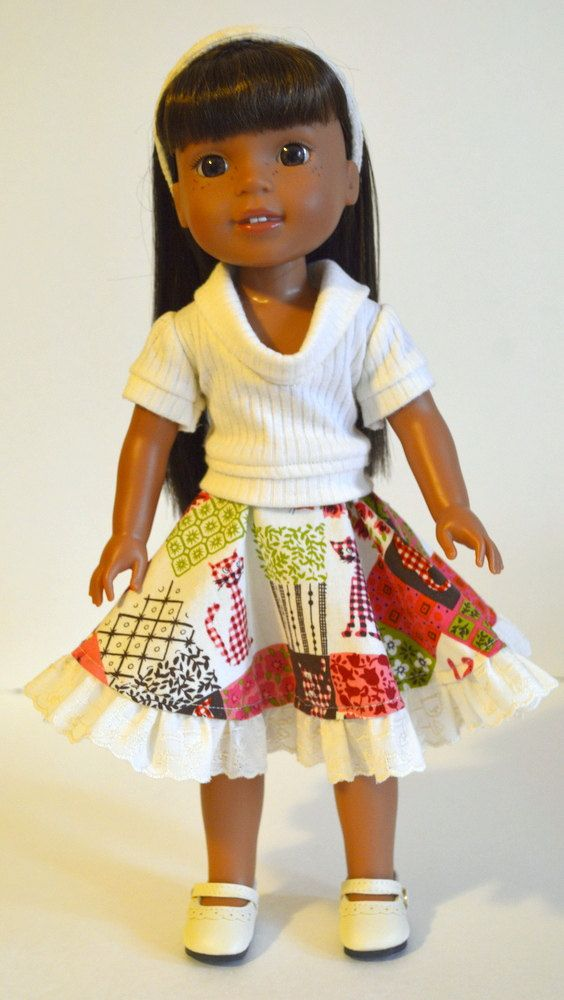 14.5 Doll Clothes Fits Wellie Wishers 14.5 Doll by SMILESEWSWEET