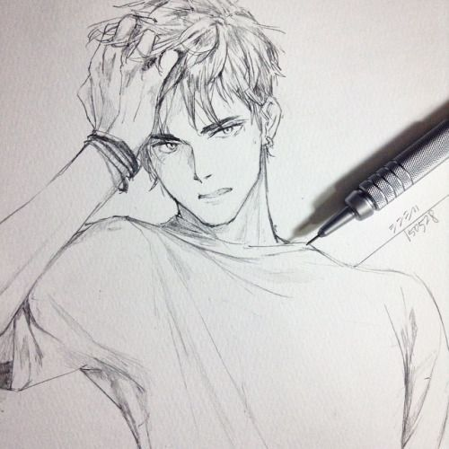 Drawing practice · drawing hairdrawing of a boyanime