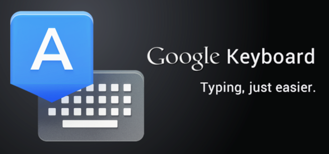 Stock google keyboard available in play store
