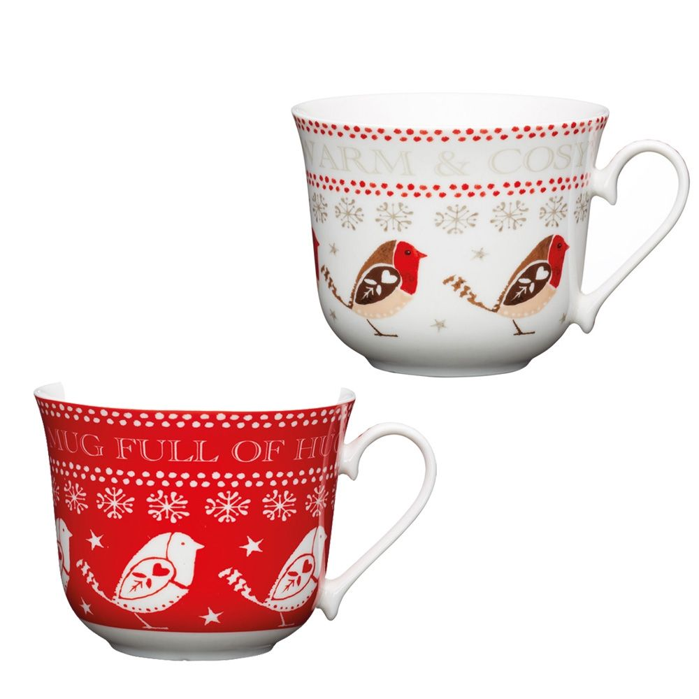 Christmas Red Robin Breakfast Cup Breakfast Cups Red Christmas Red