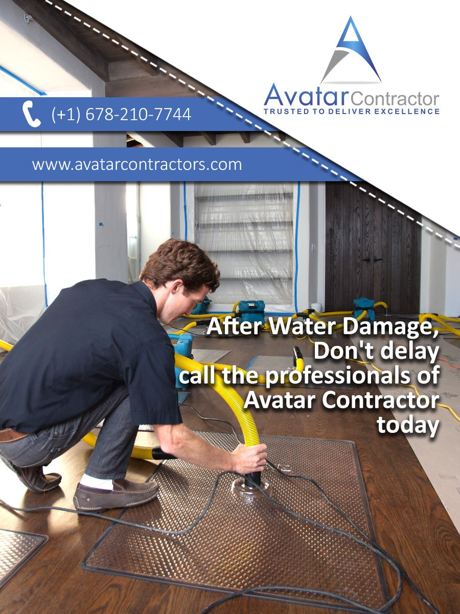After Water Damage Call Avatar Contractor Water Damage Can Really