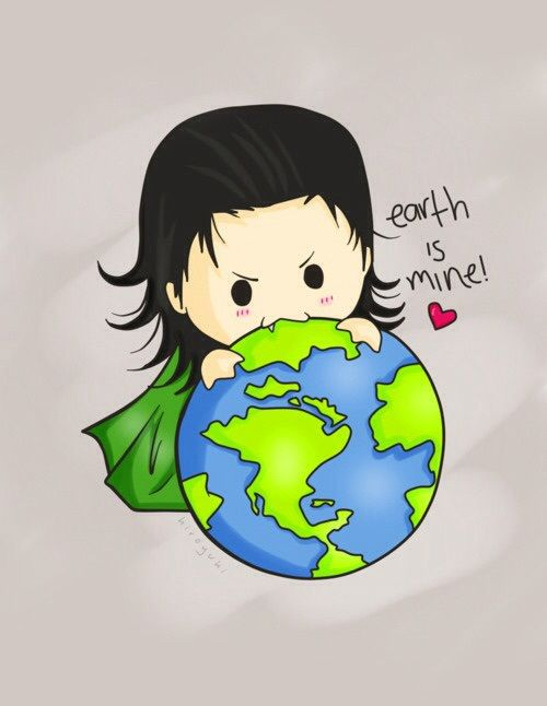 Image de loki, earth, and cute