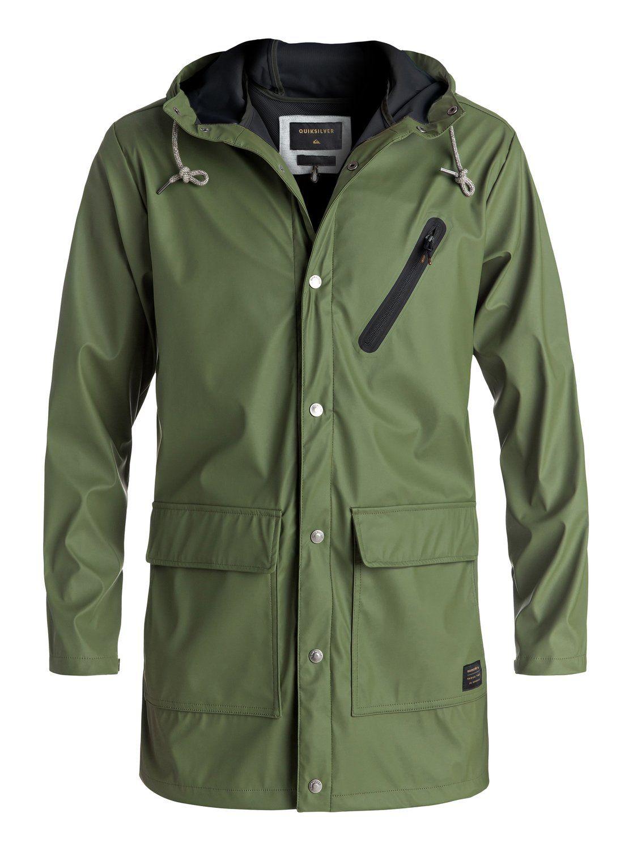 4c6422e39e quiksilver, Travers Deep Long Rain Jacket, FOUR LEAF CLOVER (gph0 ...