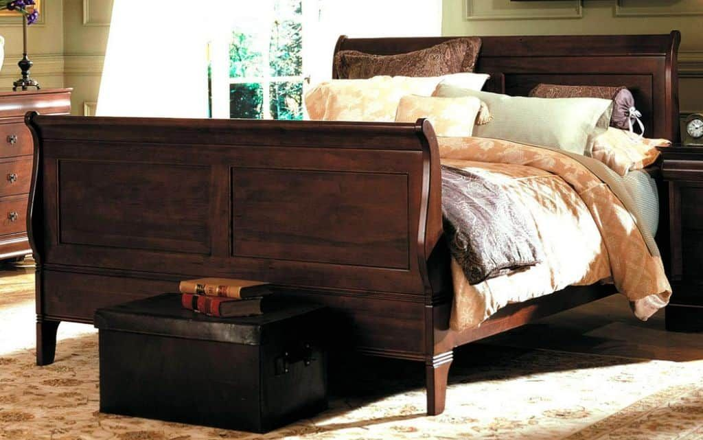 Beautiful Wooden Sleigh Beds Vintage Bed Frame King Size Bed