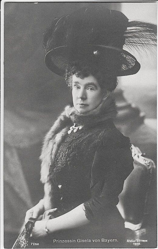 Princess Gisela of Bavaria, daughter of Emperor Franz Joseph of Austria-Hungary and his wife, Empress Elizabeth..
