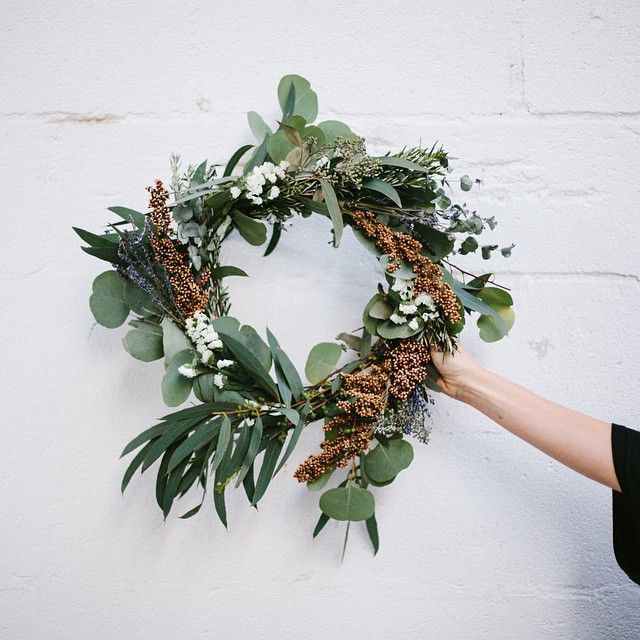 Wreath making with fall florals.