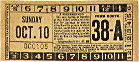 Transfer from Philadelphia (Pennsylvania) Transportation Company (1940s)