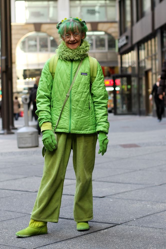 Image result for humans of new york green lady