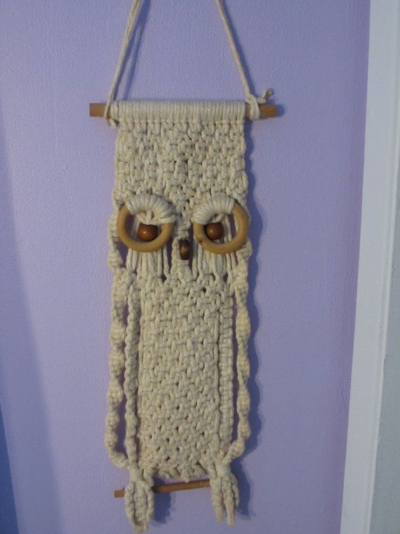 Vintage macrame owl hanging | OWLS | Pinterest | Macrame ...