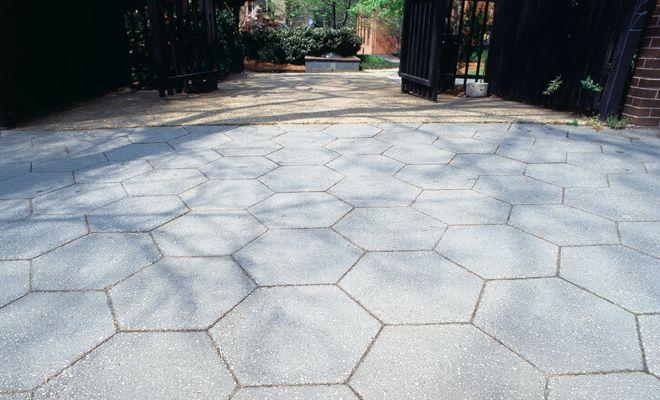 Hexagon Pavers Concrete Patio Patio Stones Stamped Concrete Patio