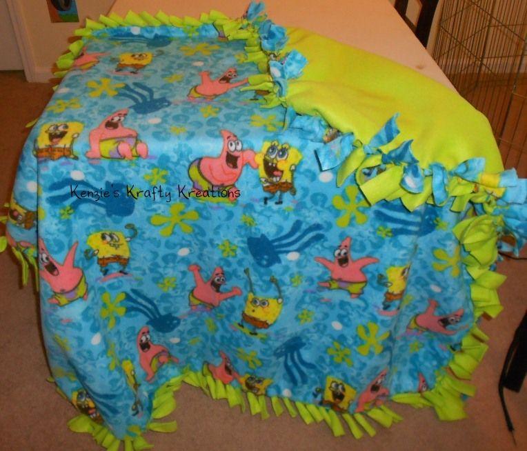 Spongebob Tie Knot Blanket Handmade Prices Will Vary