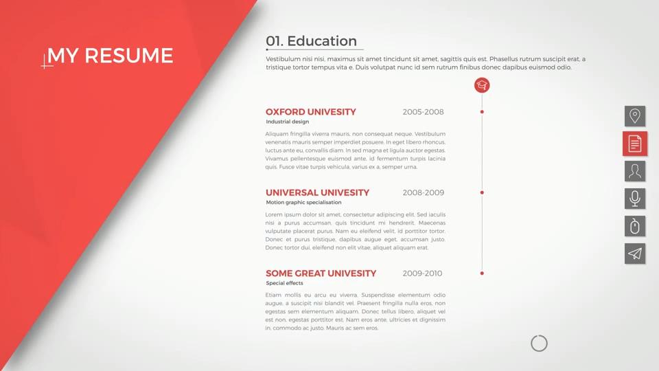 Resume Cv By Smart Pixel On Envato Elements Video Video Graphic Design Resume Graphic Resume Resume Cv