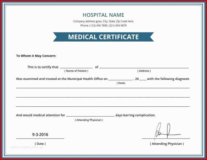 5 Genuine Fake Medical Certificate Online Every Last Template