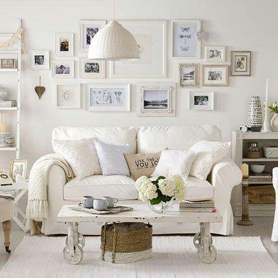 Shabby Wohnzimmer Pinterest Hogar, Salón blanco und Decoración