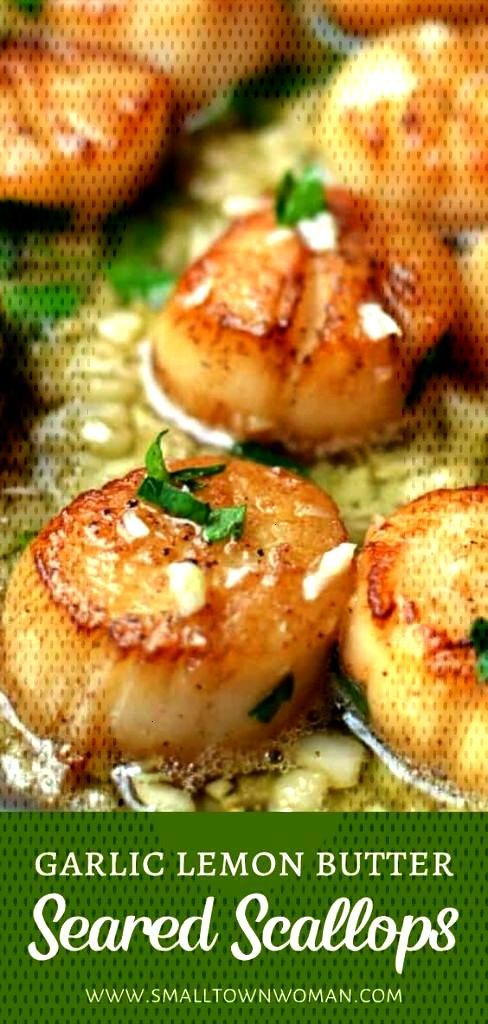Garlic Lemon Butter Seared Scallops is definitely the best scallop recipe for the holidays! This ea
