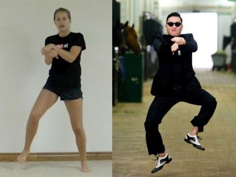 """How to """"gangnam style"""" dance tutorial with psy and michelle park."""