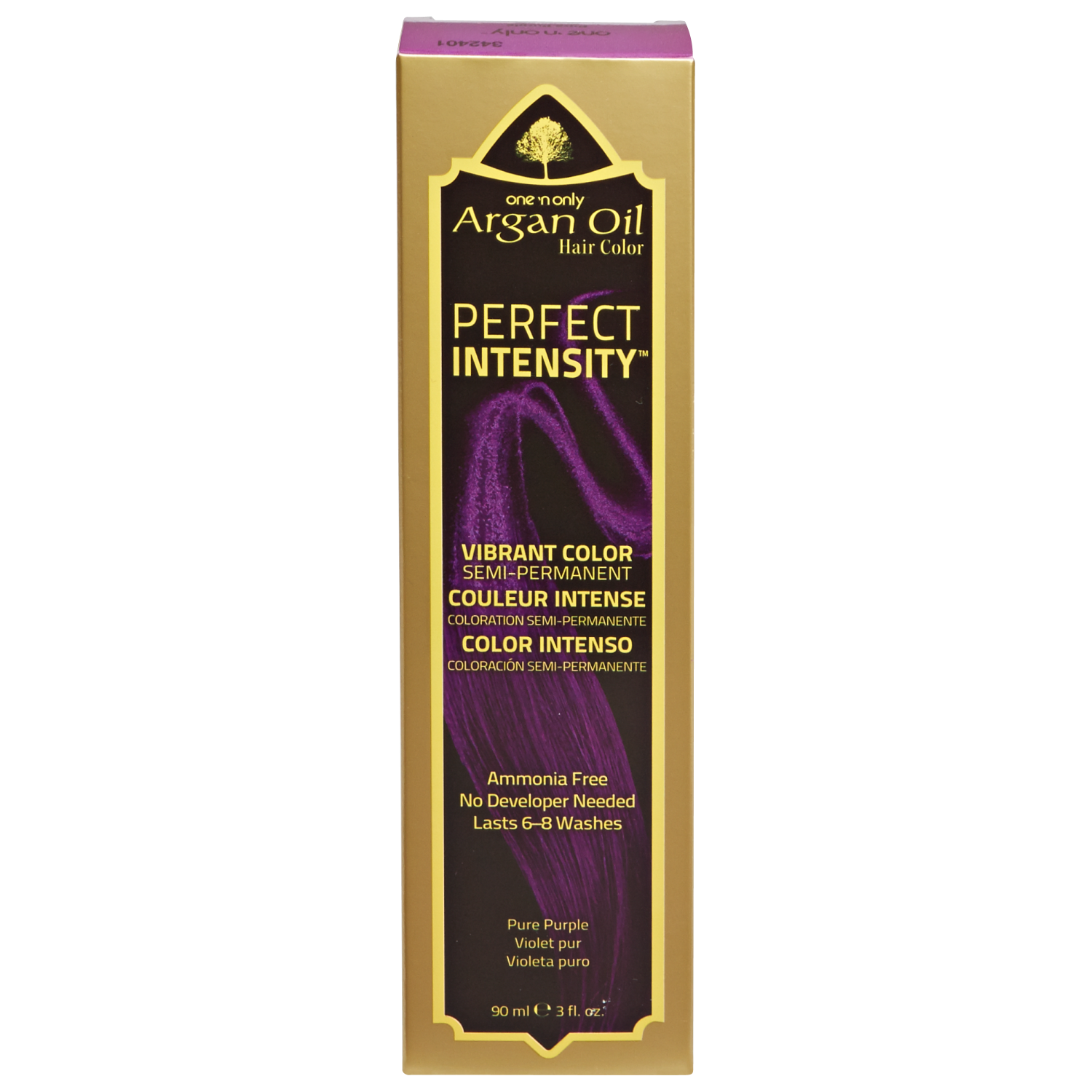 One N Only Argan Oil Hair Color Perfect Intensity Pure Purple Argan Oil Hair Color Hair Color Argan Oil Hair