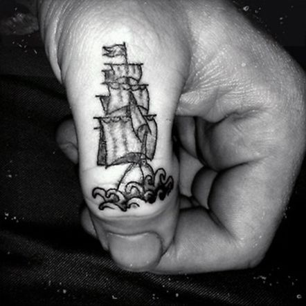 520195f2574b2 75 Finger Tattoos For Men - Manly Design Ideas | Foot, hand, and ...