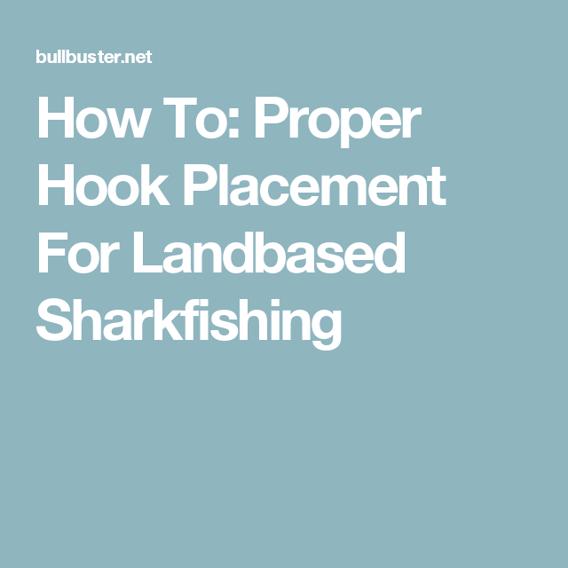 How To: Proper Hook Placement For Landbased Sharkfishing