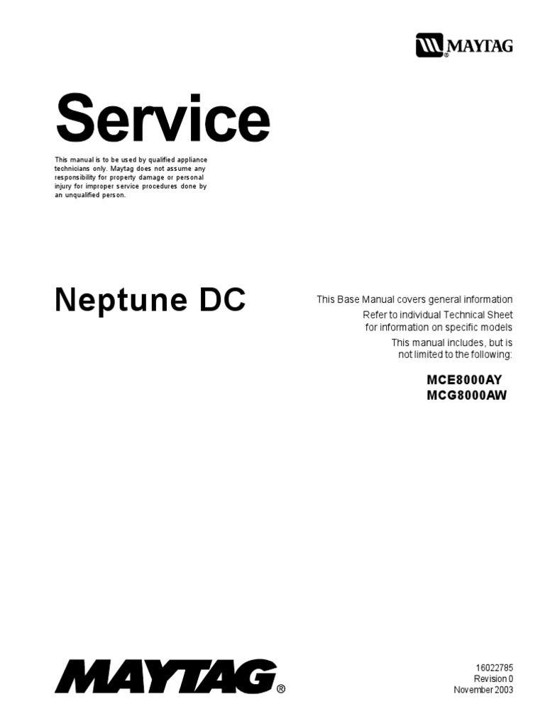 I'm reading 16022785 Maytag Neptune Drying Center (DC