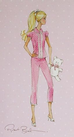 Pottery Barn Barbie Box Art Fashion Illustration Barbie