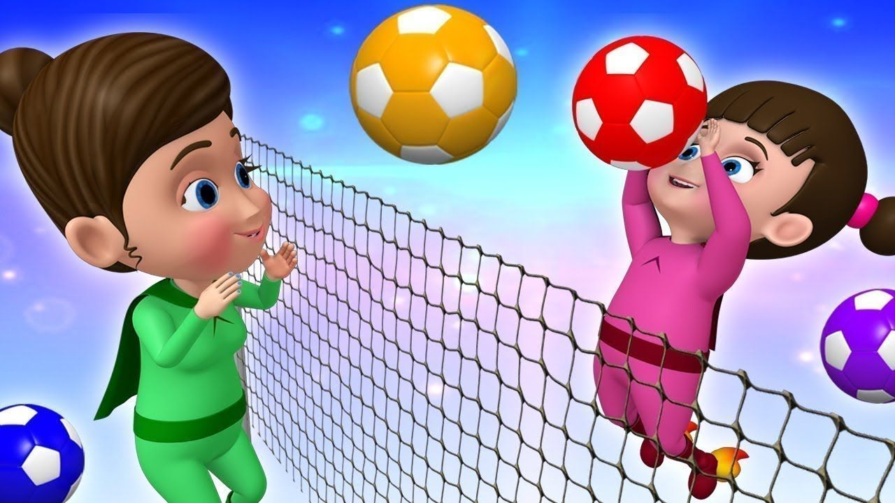 Super Baby Boy Play Volley Ball Game To Learn Colors For Children With Learning Colors Kids Learning Videos Rhymes For Kids