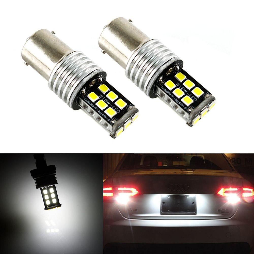 2pcs Car 12v Led Reverse Signal Lights Ba15s 1156 2835 15smd Error Automobiles Reversing Backup Brake Light Lamp Car Styling New Car Lights Lamp Light Car