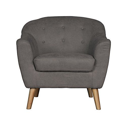 Mcm Bucket Accent Chair: NPET Mid Century Modern Bucket-Style Accent Chair In Light