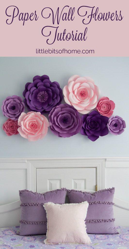 Paper Wall Flowers Tutorial