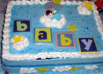 Baby Shower Sheet Cake Ideas | Thank Heaven For Little Boys Cake