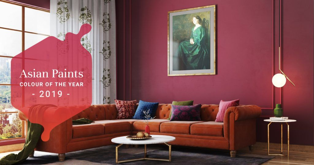 Interiors Like Fine Wine With 2019 S Hottest Colour Asian Paints Colours Asian Paints Paint Colors For Living Room #wine #color #living #room