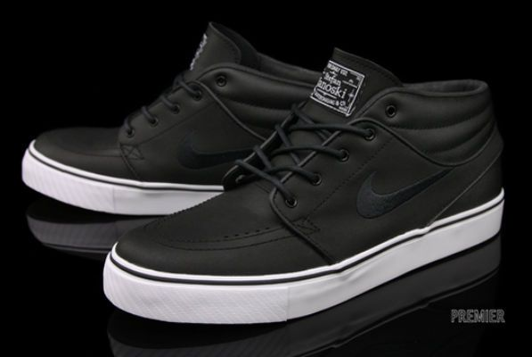 Nike SB Stefan Janoski Mid – Black Leather  76d49f374