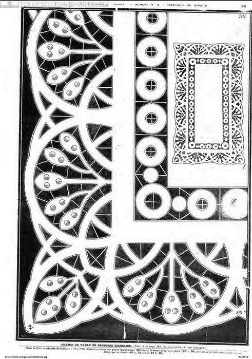 Рисунки для вышивки ришелье. Обсуждение на LiveInternet - Российский Сервис Онлайн-Дневников
