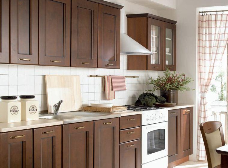 Muebles De Madera Oscura En La Cocina Muebles De Cocina Muebles De Cocina Modernos Muebles De Madera Oscura