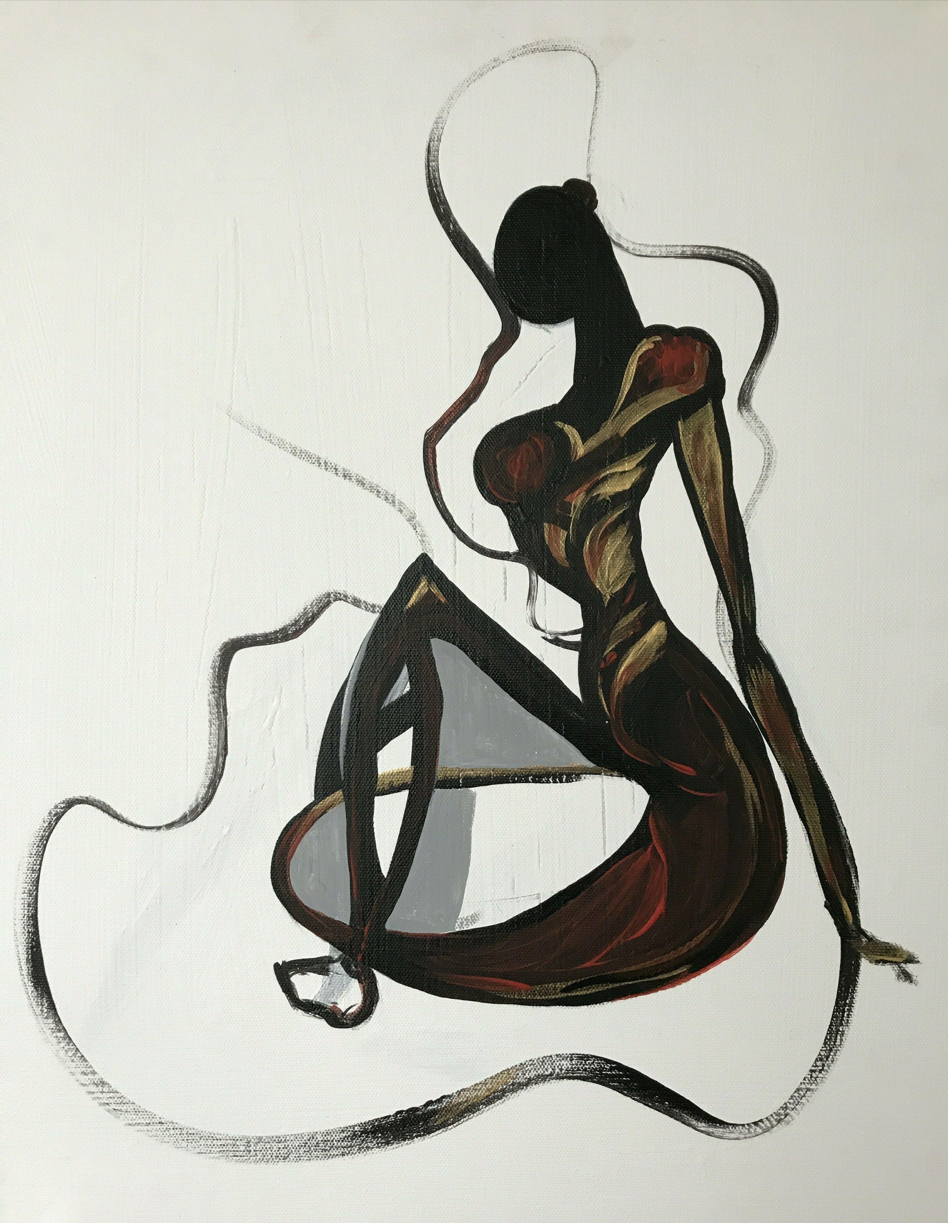 оригинальные картинки абстрактной женской фигуры уважение