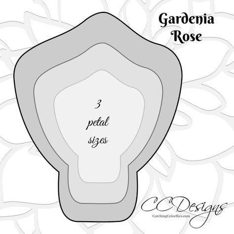 Large Gardenia Paper Flowers Gardenia Flower Templates Giant Paper