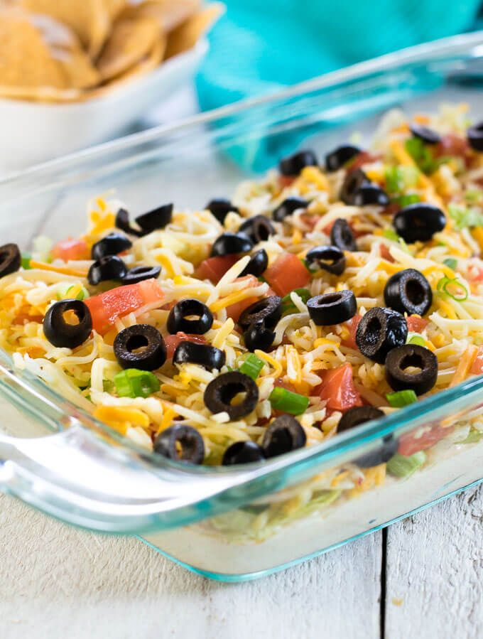 Classic Taco Dip - Fox Valley Foodie