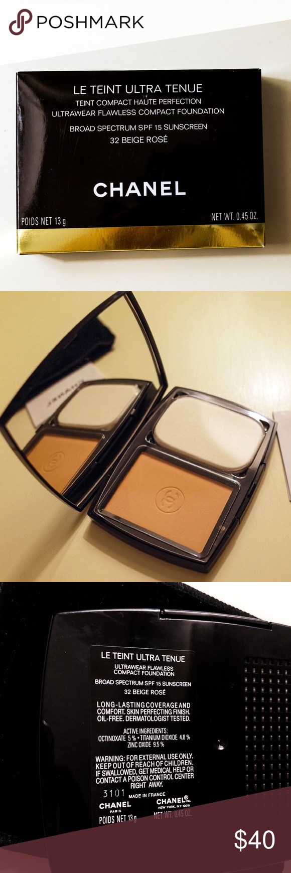 Chanel NEW Le Teint Ultra Tenue compact foundation NEW Le