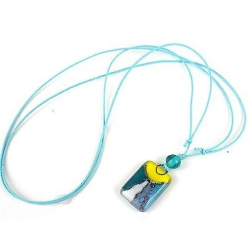 Sunny Skies Small Fused Glass Pendant Necklace - Tili Glass